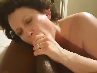 Mature Curly Haired Wife Blows Bbc