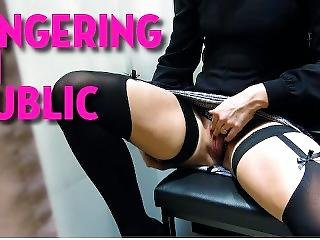This Girl Loves To Fingering In Public And Be Fucked In Public Toilets