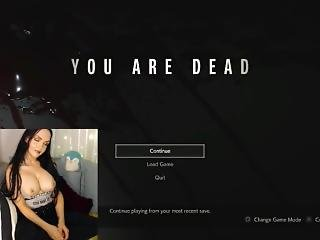 Dumb Bitch Goes Crazy & Pulls Out Tits Losing Game