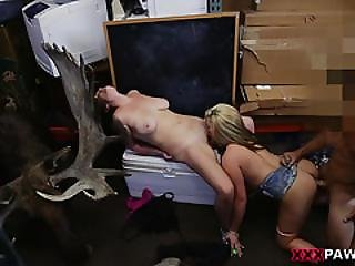 Busty Babes Have Some Serious Blowjob Sperkys