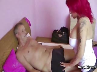 German Redhead Whore Lexy Get Fucked With Old Man For Money