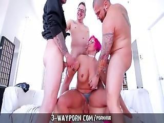 3 Way Porn   Busty Milf In Gang Banging Dp