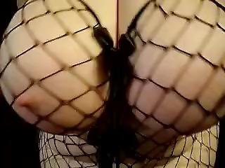 Funbags Amazing Sexy Huge Round Boobs Black Fish Net - [12-13-13-1120]