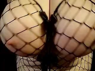 Funbags Amazing Sexy Huge Round Boobs Black Fish Net - [12-13-13-1120]