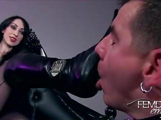 Licking Mistress Boots