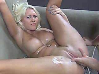 Curvaceous Blonde With Huge Dairy Section Is Hungry For A Good Fuck