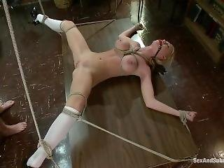 Tiny Teen With Huge Tits Gets Punished