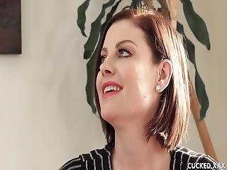 Big Tits Brunette Babe Sovereign Syre Cucks Her Husband