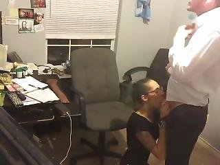 Sexy Girl In Office Has Sex With Boss To Keep Her Job.