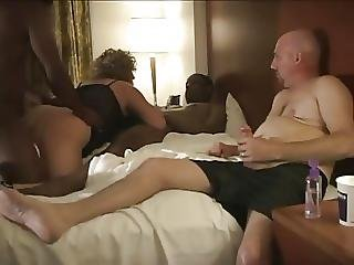Husband Enjoys Watching Amateur Cuckold Wife Swing - Part 2