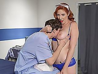 Gorgeous Nurse Lauren Philips Takes Cock Deep In Her Ass