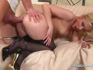Hardcore Anal With A Blonde