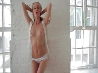 Russian Teen Kris Gudinova Exposing Her Delicate Body