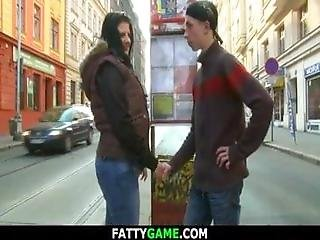 Shaved Pussy Plumper Picks Up Him From The Tram Stop