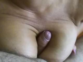 Hot German Milf Shows Her Swinging Boobs - Cum All Over Her Saggy Tits