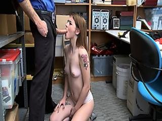 Rosalyn Sphinx Goes Down On Her Knees And Sucking A Big Cock