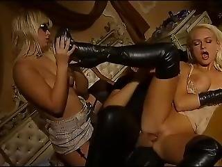 Ffm Threesome Involving Ass Fucking And Thigh High Boots