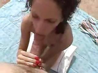 Blowjob, Cum, Cum Swallow, Fucking, Outdoor, Swallow