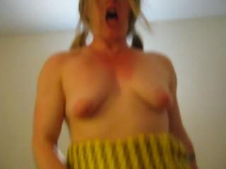 Horny Slut Riding Dick Like She Is Crazy In A Skirt