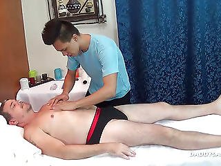 Daddy Mike Bareback Fucks Asian Masseur