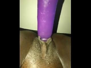 Big Purple Dildo Play