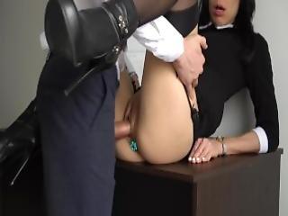 ametérské, anál, anální creampie, zadek, velké péro, šéf, mrdka, creampie, šukání, podpatky, domov, domácí, kancelář, kunda, sekretářka, sexy, punčocha, úplá, úplá kunda