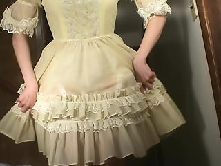 Mistress Jessica - White Petticoat & Yellow Frilly Panties