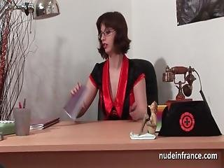 Big Titted Amateur Doctor Hard Sodomized On Her Desk