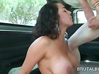 Giant Boobs Slut Fucked Hardcore In Sex Bus