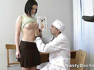 Young Girl Prepares For Her Medical Examination
