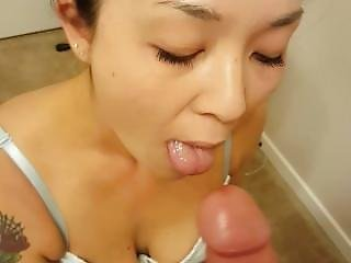 Sexy Bride Giving Blowjob