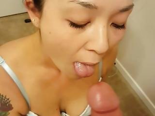 любитель, азиатский, минет, невеста, POV, сексуальный
