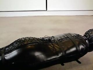 Leather Bondage And Orgasm