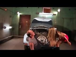 Girman Mistress Dominates A Car Mechanic 1