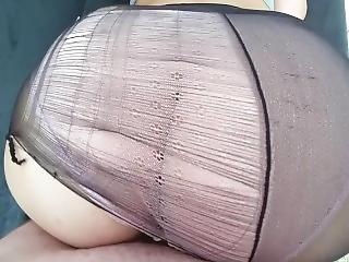 Sex In Black Pantyhose And Pink Panties