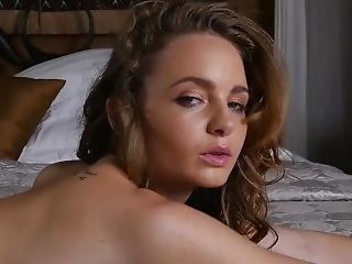 soveværelse, små bryster, alene