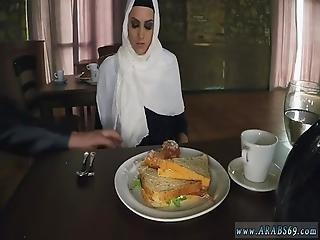 Arab Smoking Hungry Woman Gets Food And Fuck