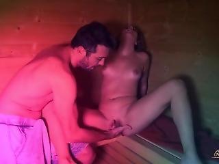 Blowjob In A Sauna