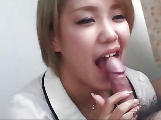 Asian Gets A Mouthful Of Cum