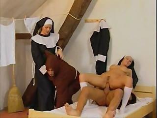 Blonde, Cumshot, Dp, Foursome, Fucking, Nun, Orgy