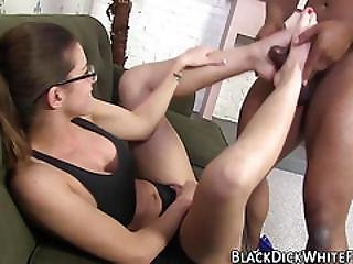 Babe, Busty, Cumshot, Feet, Fetish, Foot, Footjob, Fucking, Glasses, Interracial, Jizz, Masturbation, Weird, Worship