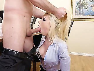 Wicked Secretary In Nylons Roxy Nicole Is Having Filthy Sex With Her Boss