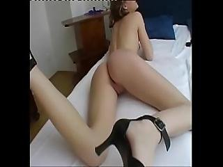 Cute Young Blonde Jerking Her Pussy And Filmed By Depraved Old Man