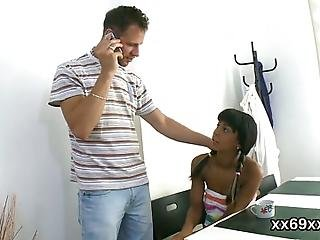 Medic Helps To Check On A Virgin Nympho And Assists With Hymen Physical And Defloration Or First Time Hardcore Sex
