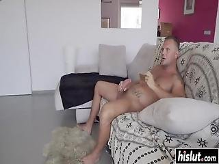 Betty Foxxx Talked A Friend Into Fucking Her With His Monster Cock