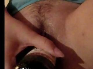 Russian Slut Fucks Wine Bottle And Comes