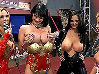 Busty Vixens Both Holes Fucked In A Super Hot Live Orgy