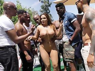 Natasha Nice Interracial Gangbang Sex