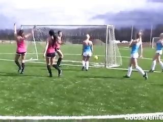Naked Female; Football/soccer Match.