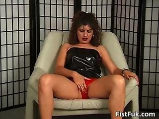 Curly Milf Gets Fucked With A Dildo Than